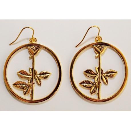 Depeche Mode -  Women earrings  Rose Gold