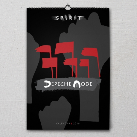 Depeche Mode - Calendario de pared 2018