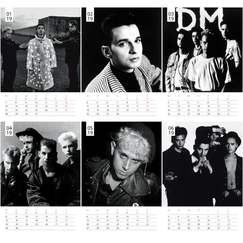Depeche Mode Desk Calendar 2019 A5 Depeche Mode Universe